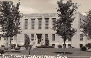 Independence Iowa~Buchanan County Art Deco Courthouse Facade RPPC 1949 Postcard