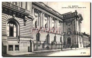 Old Postcard Nantes Entrance of Musee des Beaux Arts