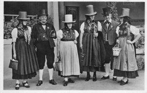 RPPC Trachtenverein Schwarzwälder Trachten German Native Costume c1920s Postcard