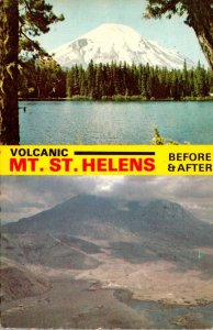 Washingtom Mount St Helens Volcano Before and After