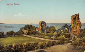 Hastings Castle Ruins Chateau Schloss 1927