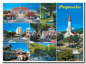 Postcard Modern Papeete City capital Papeete Tahiti and her islands