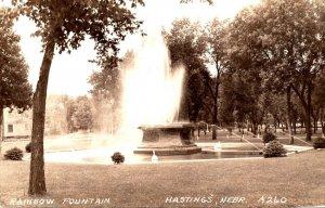 Nebraska Hastings Rainbow Fountain 1939 Real Photo