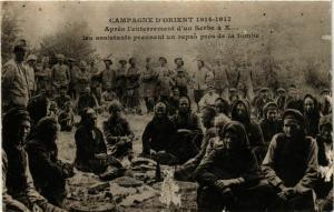 CPM Campagne d'Orient. Apres l'enterrement d'un Serbe MACEDONIA SERBIA (708982)