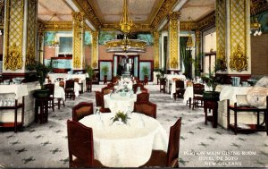 Louisiana New Orleans Hotel De Soto Portion Of Main Dining Room 1930 Curteich