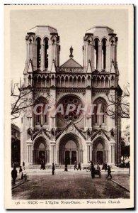 Old Postcard Nice L Eglise Notre Dame