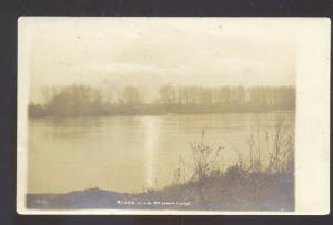 RPPC LAWRENCE KANSAS KAW RIVER MOONLIGHT J. BOWERS REAL PHOTO POSTCARD