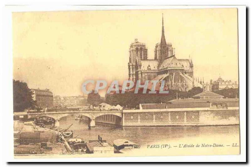 Paris (4th) Old Postcard L & # 39abside of our Lady