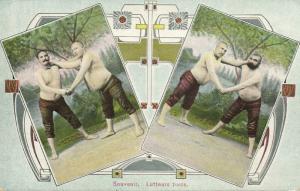 turkey, Native Turkish Wrestlers, Wrestling (1910s) Fruchtermann 198 Postcard