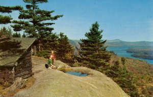 NY - Old Forge. Fulton Chain of Lakes from Bald Mountain