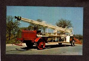 OK Firetruck Fire Truck Oklahoma City Okla Fireman Postcard American LaFrance
