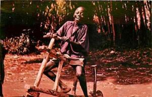 South East Africa, Malawi, Bicycle made by his own hands, Holy Childhood Assn.