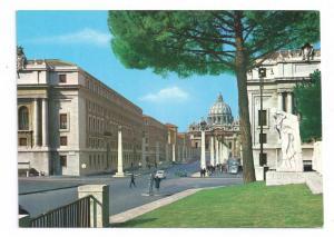 Rome Italy Via della Conciliazione Street Postcard