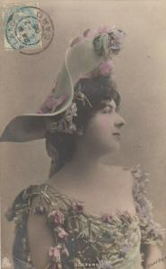 ALAIS, Gard, France, PU-1906; Woman in Flowery Dress and Hat , TUCK # 274