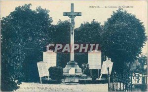 Old Postcard Suippes The Calvary Cemetery