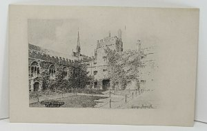 Jesus College Oxford Vintage Postcard