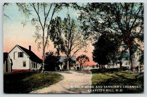 Leavitt's Hill New Hampshire~Middle Road~Sanborn's Creamery~Neighborhood~1910 PC
