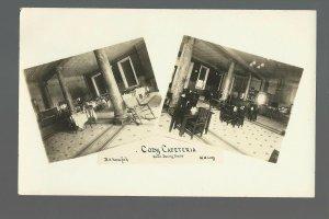 Grand Rapids MICHIGAN RPPC c1910 INTERIOR RESTAURANT Cody Cafeteria ADVERTISING