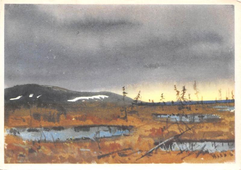Russia Bogatkin Taimyr Tundra Painting Hippostcard