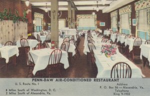 ALEXANDRIA , Virginia , 1930-40s ; PENN-DAW Restaurant