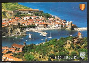 Collioure, France, sail boats, writing on back, not mailed