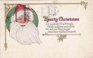 Christmas Santa Claus Smiling 1924