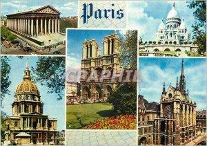Postcard Paris Modern Colors and Light of the Madeleine France Sacre Coeur