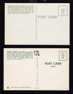 VA Lot 2 Civil War Marye's Heights Postcards Fredericksburg Virginia  Burnside