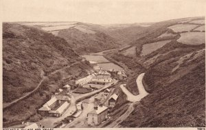 CORNWALL, England, 1930-1950s; Boscastle Village And Valley