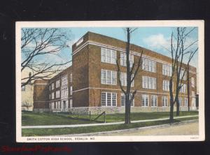 SEDALIA MISSOURI SMITH COTTON HIGH SCHOOL BUILDING VINTAGE POSTCARD MO. 1930