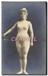 Postcard Old Woman Nude Erotic