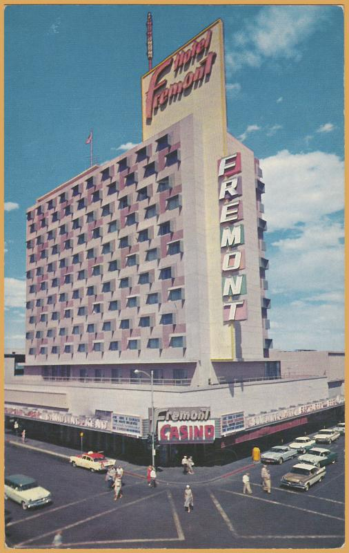 Las Vegas, Nev., Hotel Fremont, 1950's cars and people-