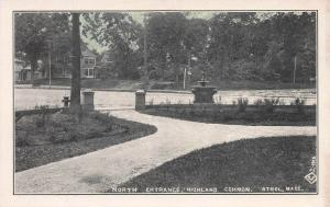 North Entrance, Highland Common, Athol, Massachusetts, Early Postcard, Unused