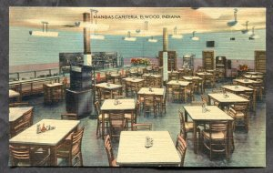 5236 - ELWOOD Indiana 1940s Mangas Cafeteria Interior. Linen