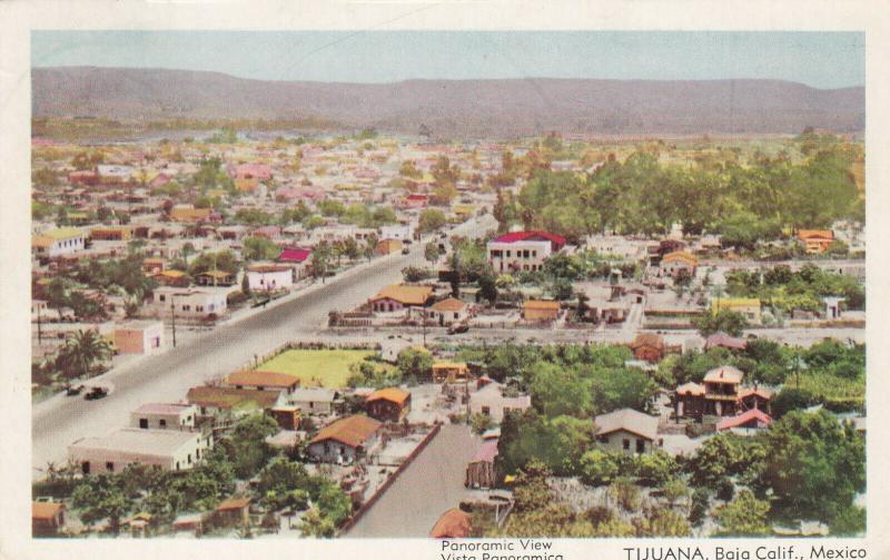 TIJUANA, Baja California, Mexico, 1940-60s; Panoramic View