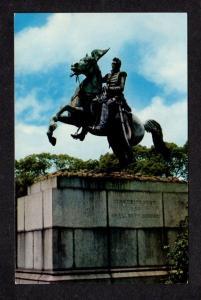 LA General Andrew Jackson Civil War Statue New Orleans Louisiana Postcard PC
