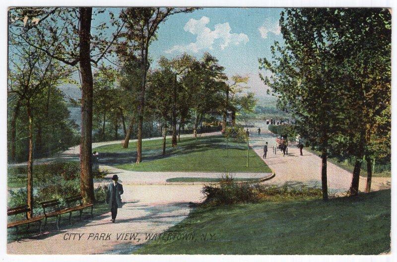 Watertown, N.Y., City Park - Rotograph