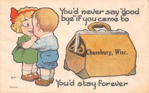 You'd Never Say Good-Bye in Chaseburg Wisconsin~You'd Stay Forever~1914 PC