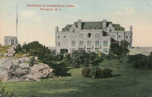 NEWPORT , Rhode Island , 1900-10s; Residence of Commodore James
