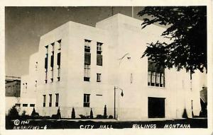 RPPC of the City Hall in Billings Montana MT 1941 Copyright  Real Photo