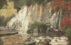 Hakone Japan 1905 Used Postcard Multiple Cancels & Stamp