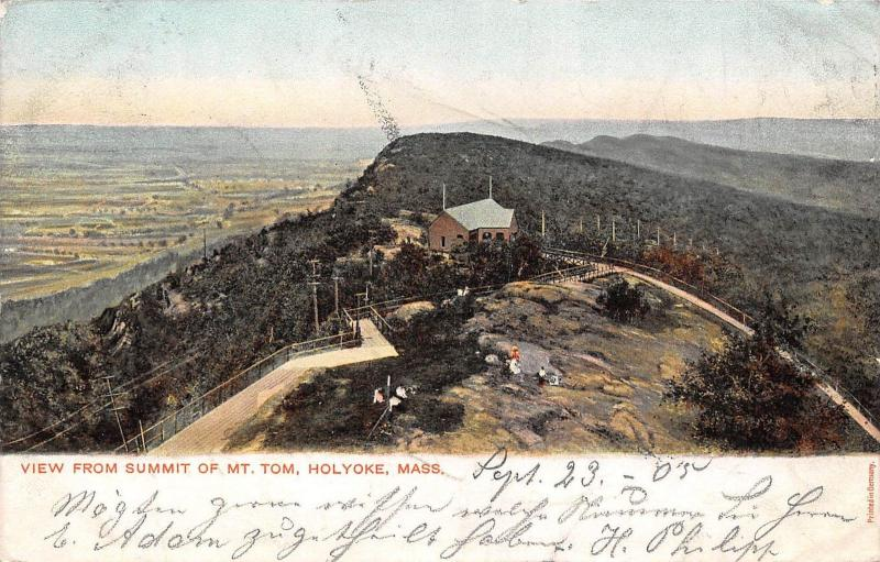 USA Mass. Holyoke View from Summit of Mt. Tom 1905