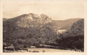 D87/ Seneca Rocks West Virginia WV Real Photo RPPC Postcard c1930s Route 5