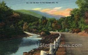 Pocono Mountains, Pennsylvania, PA, Post Card Pocono Mountains PA Unused