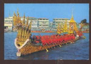 BANGKOK THAILAND THE NAKARAI BARGE BOAT VINTAGE POSTCARD