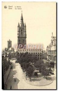 Old Postcard Ghent The Belfry
