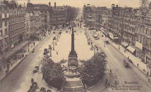 Place De Brouckere Vers Le Boulevard Anspach, Bruxelles, Belgium, 1900-1910s