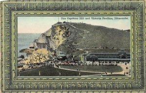 Capstone Hill and Victoria Pavilion, Ilfracombe, England, Early Postcard, Unused