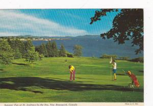 Playing Golf, Summer Fun At St. Andrews-by-the-Sea, New Brunswick, Canada, 19...