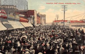 Atlantic City NJ~Vacation Day Crowd~Field's Mexican Store~Shourds~1912 Postcard